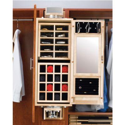 Gentlemen's Wood Closet Armoire
