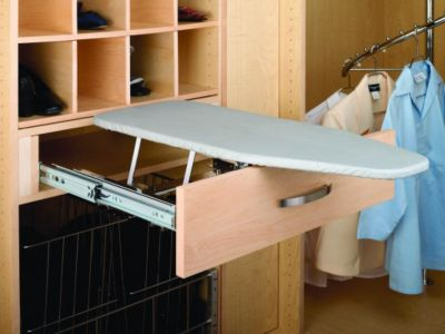 Closet Fold-Out Ironing Board - Chrome