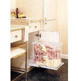 Bottom Mount Removable Pullout Wire Hamper - White Wire