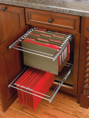 2 Tier File Drawer System - Chrome
