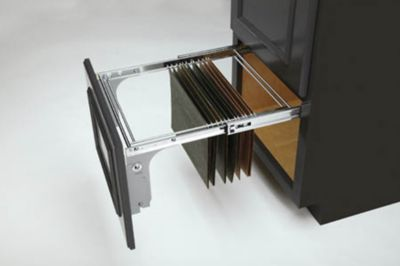 Pullout File Drawer System - Chrome