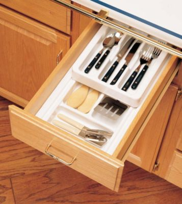 RT 10 Series Shallow Half Cutlery Tray Set System - Glossy White