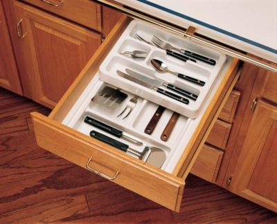 RT 12 Series Shallow Half Cutlery Tray Set System - Glossy White