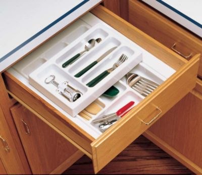 RT 14 Series Deep Half Cutlery Tray Set System - Glossy White