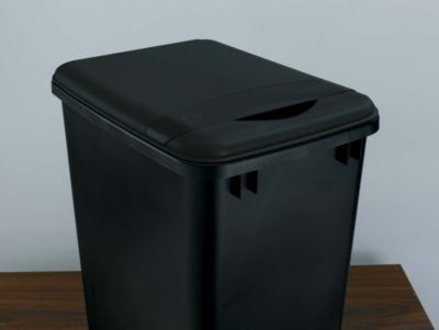 35-Quart Waste Container Lid - Black