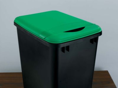35-Quart Waste Container Lid - Green