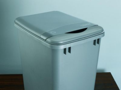 50-Quart Waste Container Lid - Metallic Silver