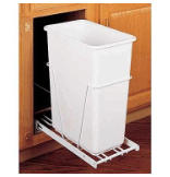 30-Quart Pull-Out Waste Container Set with Full Extension Slides