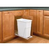 30-Quart Pull-Out Waste Container Set with Euro Slides