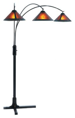Mica 3-Light Arc Lamp