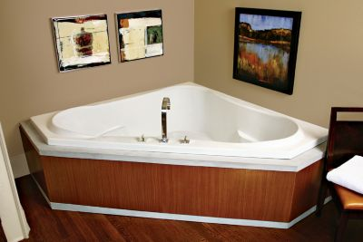 Cayman 5 Corner Drop-In Soaker Tub