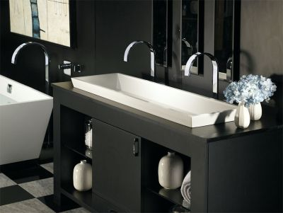 Petra Double Semi-Recessed Lavatory Sink