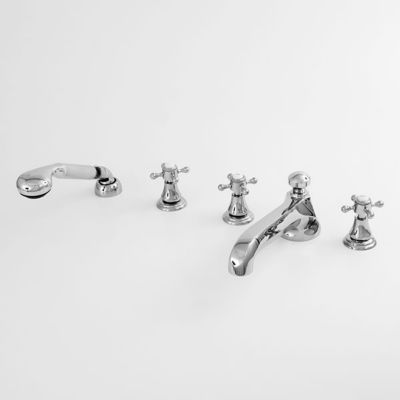 St. Michel Complete Roman Tub Set with Hand Shower - Quick Connect