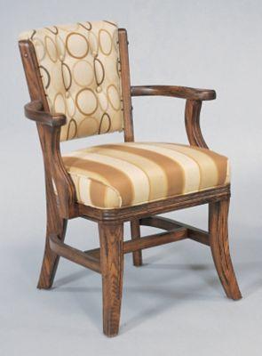 Oak 4-Leg Club Chair
