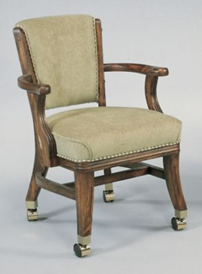 Oak 4-Leg Caster Chair
