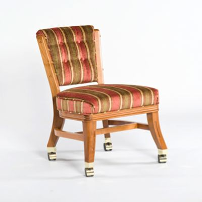 Armless Club Chair with Casters