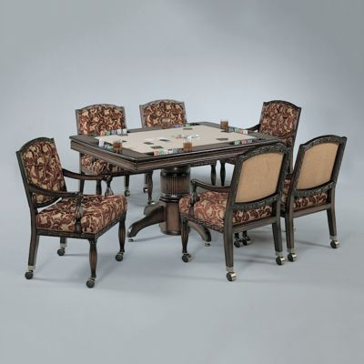 Monaco Rectangle Poker Dining Table with Bumper Pool