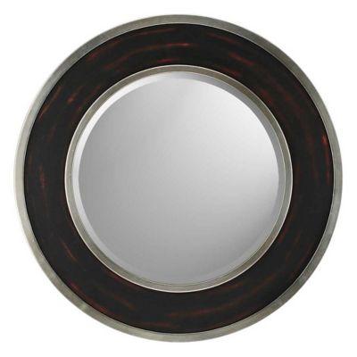 Round Aged Brown/Silver