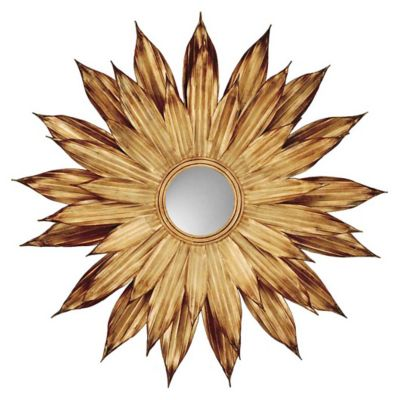 Golden Flower Petals, Decorative Mirror