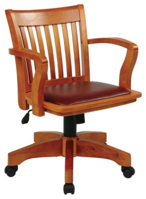 OSP® Designs Deluxe Banker's Arm Chair with Padded Seat