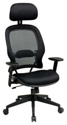Professional AirGrid Back & Mesh Seat Chair with Adjustable Headrest