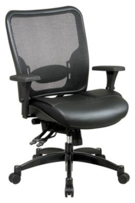 Professional Breathable Mesh Back & Layered Leather Seat Ergonomic Chair