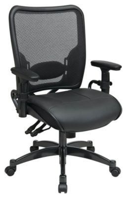 Professional Dual Function Ergonomic AirGrid Back & Leather Seat Chair