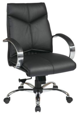 Deluxe Mid Back Executive Leather Chair