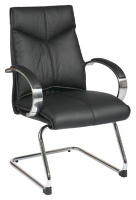 Deluxe Mid Back Visitors Leather Chair