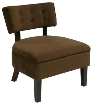 Ave • Six Curves Button Chair - Chocolate Velvet
