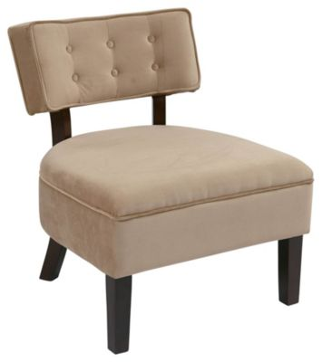 Ave • Six Curves Button Chair - Coffee Velvet
