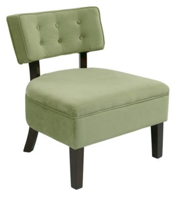 Ave • Six Curves Button Chair - Spring Green Velvet