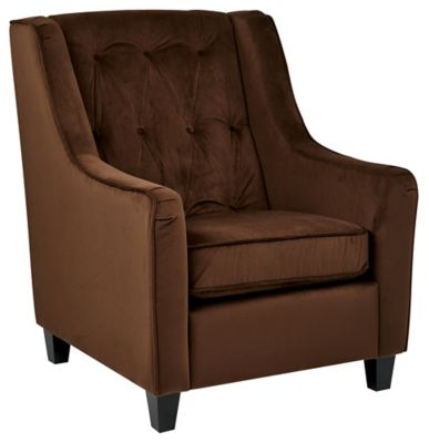 Ave • Six Curves Tufted Chair - Chocolate Velvet