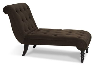 Ave • Six Curves Tufted Chaise Lounge - Chocolate Velvet