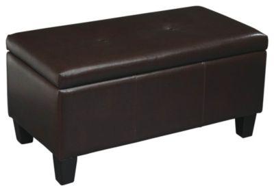 Ave • Six Detour Storage Bench - Espresso Upholstery