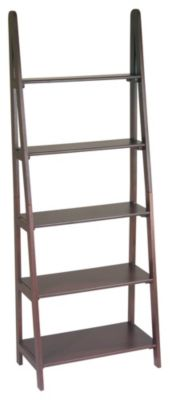 OSP® Designs Espresso Ladder Bookcase