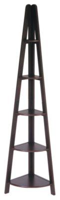 OSP® Designs Espresso Corner Ladder Bookcase