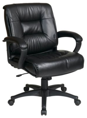 Deluxe Mid Back Executive Soft Leather Chair