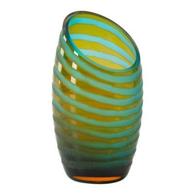 Angle Cut Chiseled Small Vase