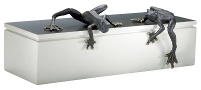 Iron Frogs Sculpture-Set of 2