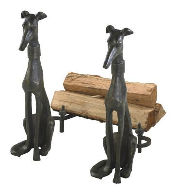 Dog Andirons-Set of 2