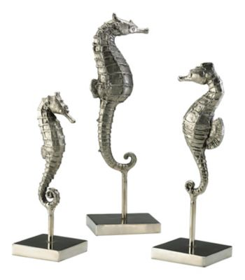 Seahorses on Stand Sculpture-Set of 3