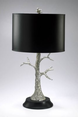Silver Tree Lamp