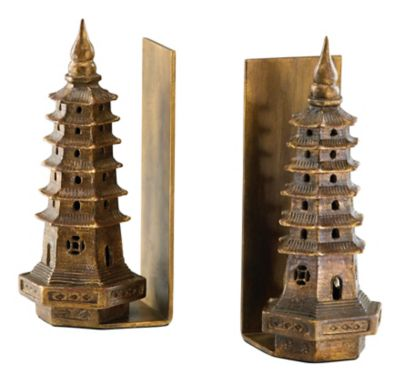 Pagoda Bookends-Set of 2