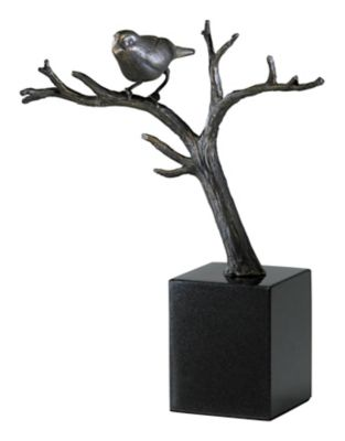 Sparrow on Branches Sculpture