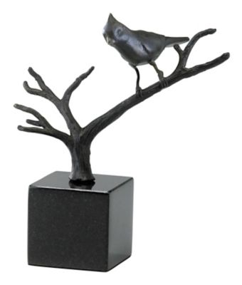 Cardinal On Branches Sculpture