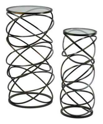 Spiral Tables-Set of 2
