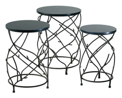 Branch Drum Tables-Set of 3