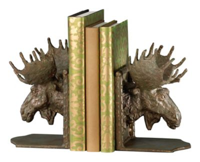 Moosehead Bookends-Set of 2