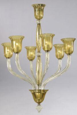 Vetrai 6-Lamp Chandelier
